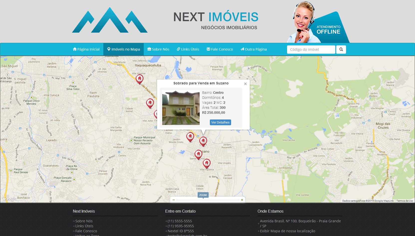 Site para Imobiliária com Google Maps